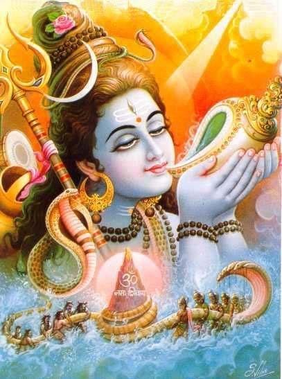 """Shiva -  Chamado de """"o Destruidor""""' (ou """"o Transformador""""), participa da Trimúrti (a trindade hindu) juntamente com Brahma (""""o Criador""""), e Vishnu (""""o Preservador"""") ."""