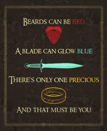 LOTR Valentine - Christian sent this to me on Valentine's Day. Seriously laughed so hard. =)