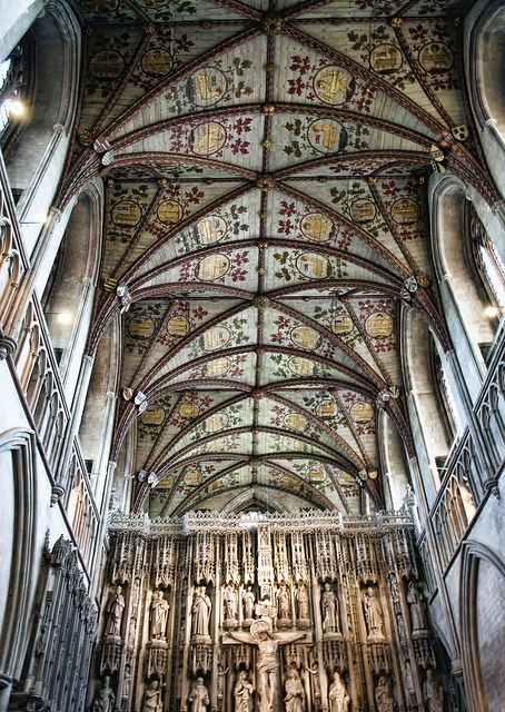 Ceiling Of St.Albans Cathedral, St Albans Cathedral, Hertfordshire, England, UK    by Nikon Nutter 2009, via Flickr