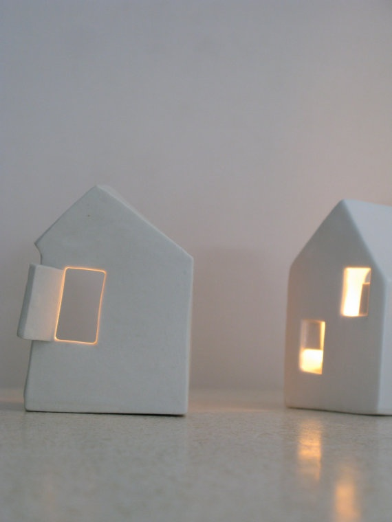 ceramic houses (backs)