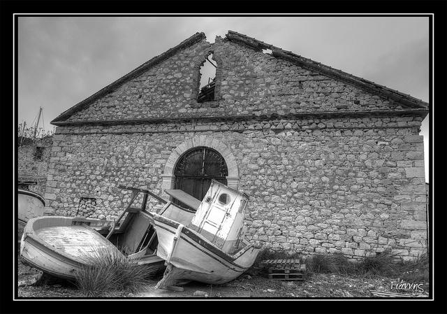 old shipyard, Malagari, Samos island, Greece