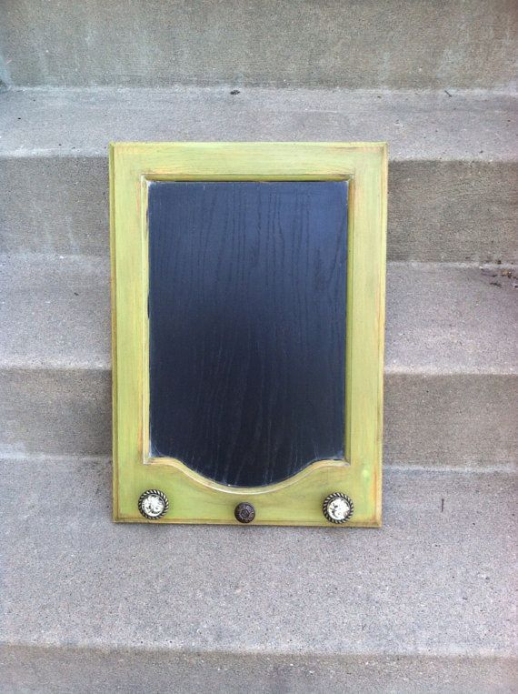 Repurposed Cabinet Door Shabby Chic Green By