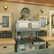 there is something seriously wrong with me... I was born in the wrong era! I want this stove and cabinets!