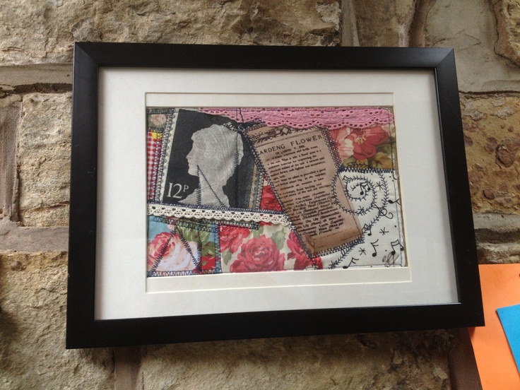 Handmade fabric collage picture by Ben and Holly's Emporium
