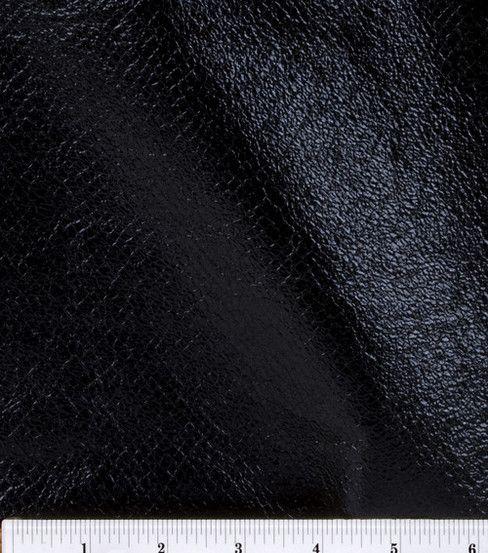 Foil Pleather Fabric, Black