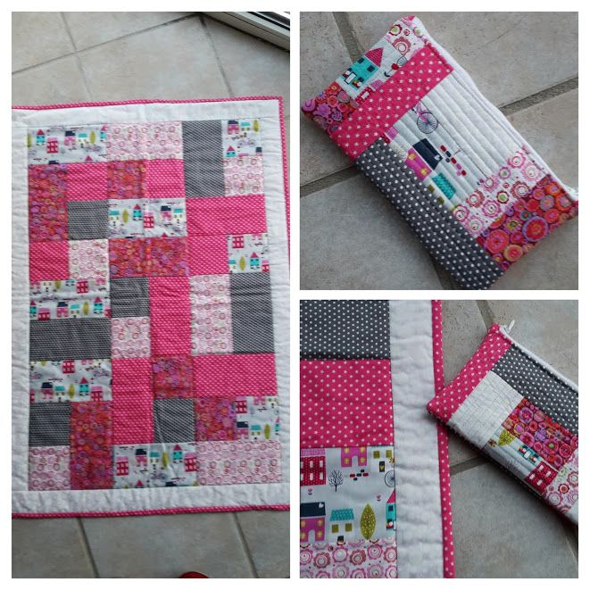 Baby quilt and mini pouch for my cousin´s daughter (august 2015)