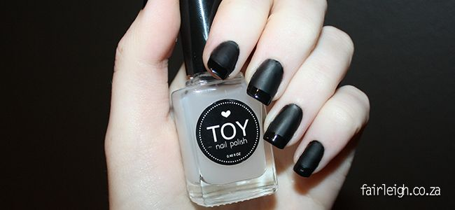 Glossy & Matte Black French Mani Tutorial - FairLeigh - The Girlier Side of a Geek