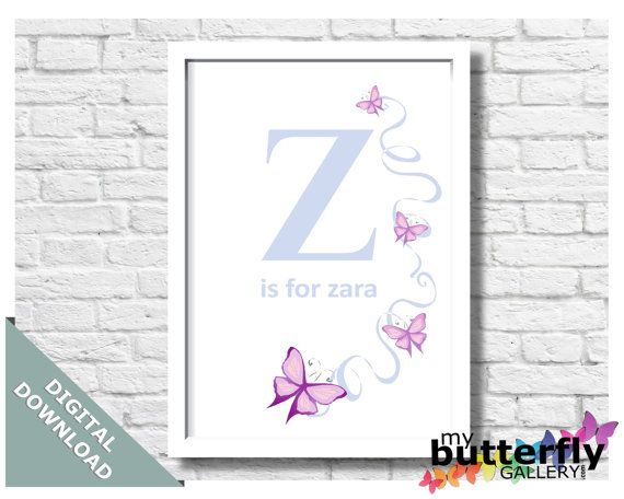 Customised Initials Instant Digital by MyButterflyGallery on Etsy