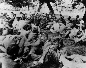 American POWs during the Bataan Death March through the Philippines, 1942