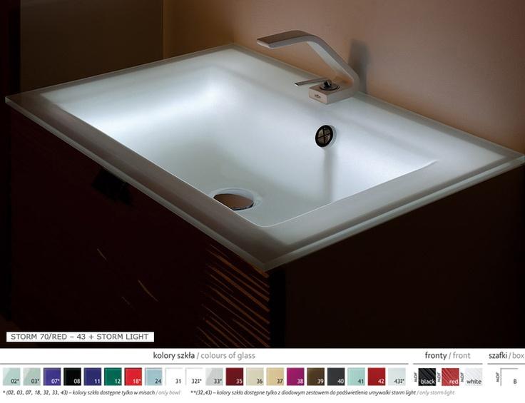 glass washbasins from GLASSPOINT #bathroom #lazienka #umywalka #szklana www.fajnalazienka.pl