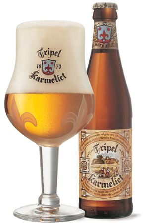 Tripel Karmeliet, brewery Bosteels in Buggenhout, 8.4% 8/10 very nice and well balanced beer. Also one of the prettiest beerglasses around.