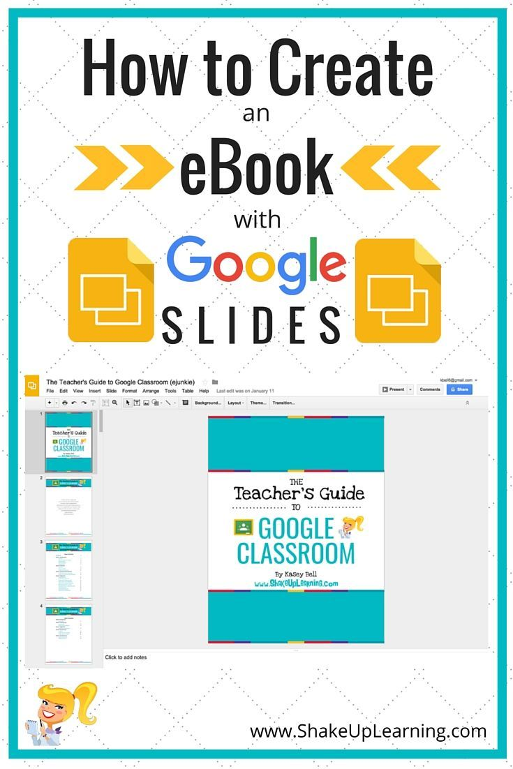 How to Create an eBook with Google Slides!    Did you know that Google Slides can be used for much more than just presentations? Google Slides is one of the most flexible learning tools in the Google Apps suite. In fact, I used Google Slides to create my