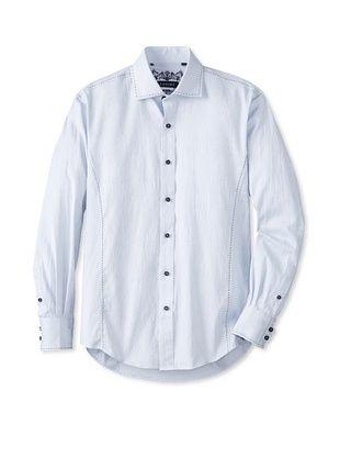 70% OFF Zagiri Men's Comfortably Numb Jacquard Shirt (Light Blue)