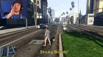 "septicplier: ""GTA V STICKY BOMBS!!! "" 'TICKY BOOOOMB"