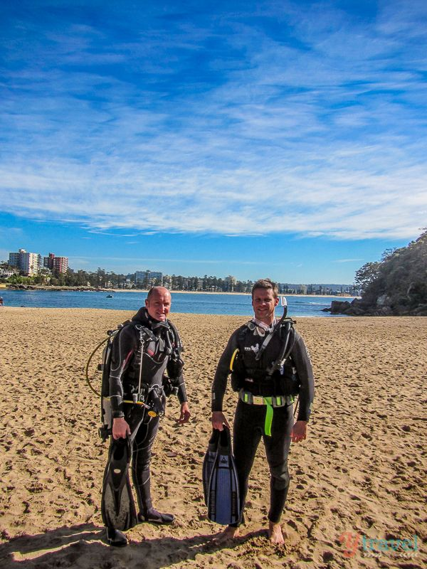 Learning to Scuba Dive at Shelly Beach in Sydney, Australia