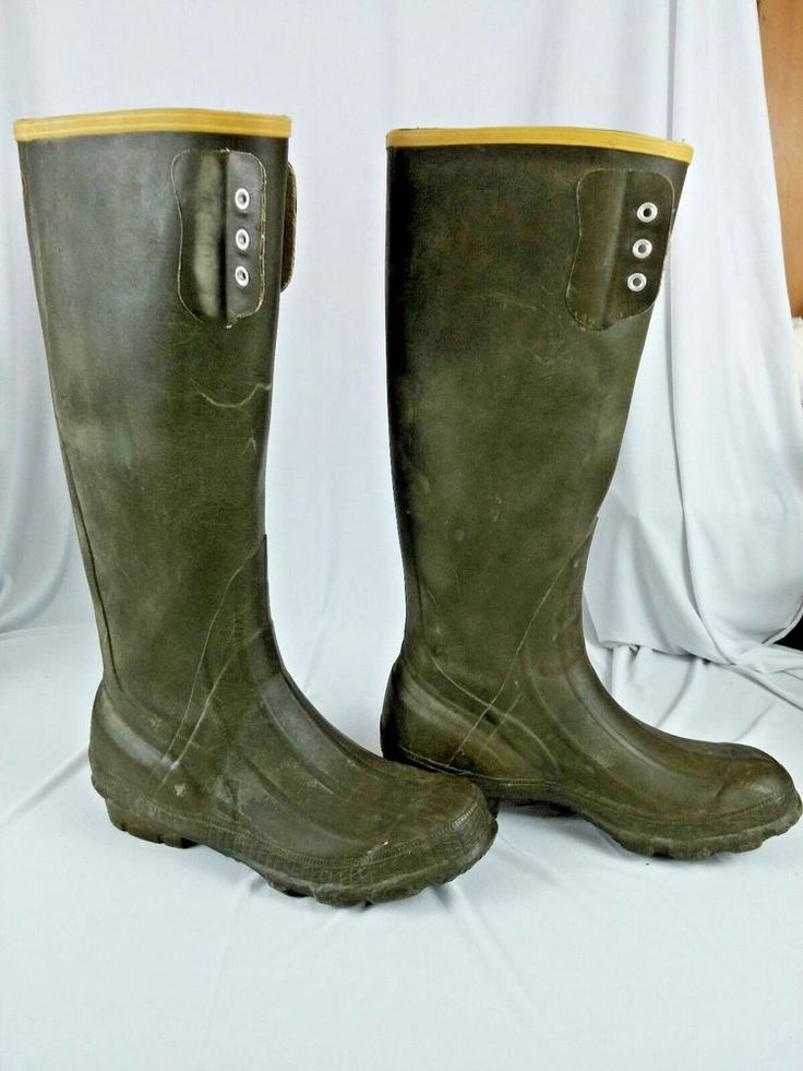 LaCrosse Mens Rubber Boots Size 9 Waterproof 16 inches Tall Hunting Fishing #LaCrosse #HuntingFishing