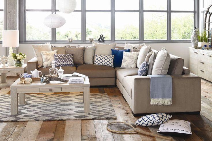 Melrose 5 Seater Fabric Corner Lounge Suite. Harvey Norman