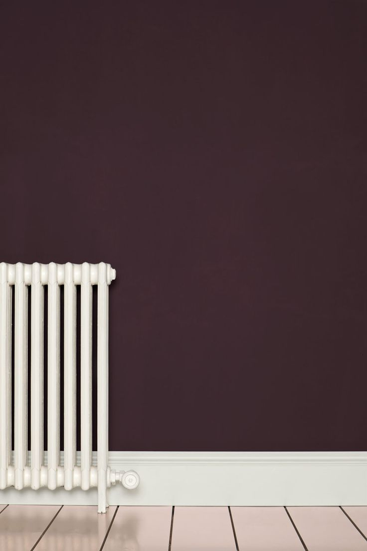 love this color for accent walls in a bed room. also love radiators, they remind me of my grandmothers house.