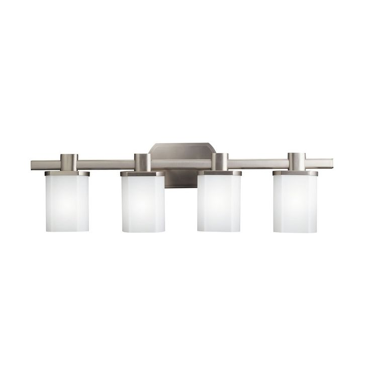 Kichler Lighting 4-Light Lege Brushed Nickel Modern Vanity Light