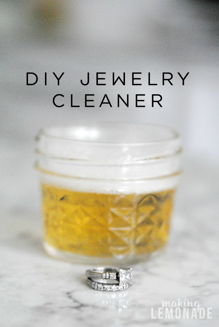 Lots of homemade cleaners contain harsh chemicals that can actually damage jewelry, try this DIY natural jewelry cleaner instead! A quick soak and your bling will be shiny and like new!