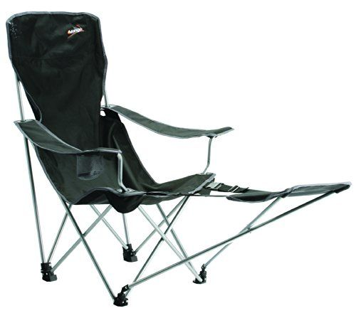 Vango Ventura Camping Chair With Foot Rest   Black