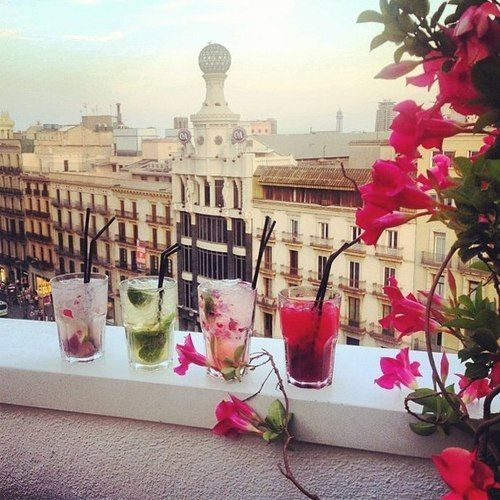 #Vintage #drinks #Barcelona #summer #balcony #views #catalonia