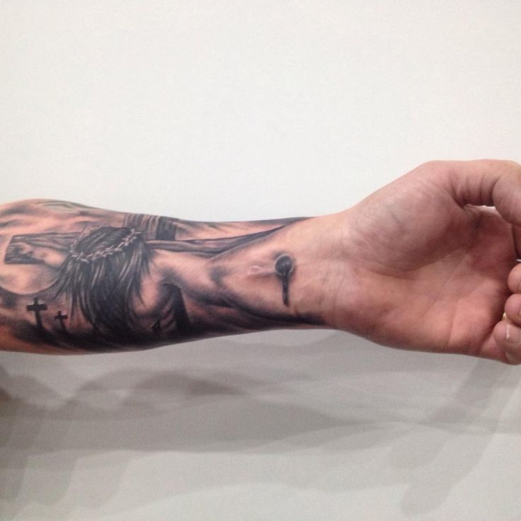 Crucifixion tattoo, religious tattoo
