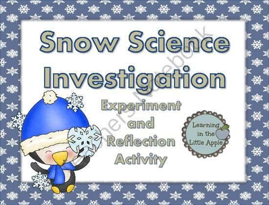 Snow Science Inquiry Investigation from Learning in the Little Apple on TeachersNotebook.com -  (11 pages)  - Use all the snow you've gotten as a learning tool! Students investigate how clean snow is by placing samples on coffee filters overnight.  The lesson is introduced by taking a survey on how many students have eaten snow. The learners record observati