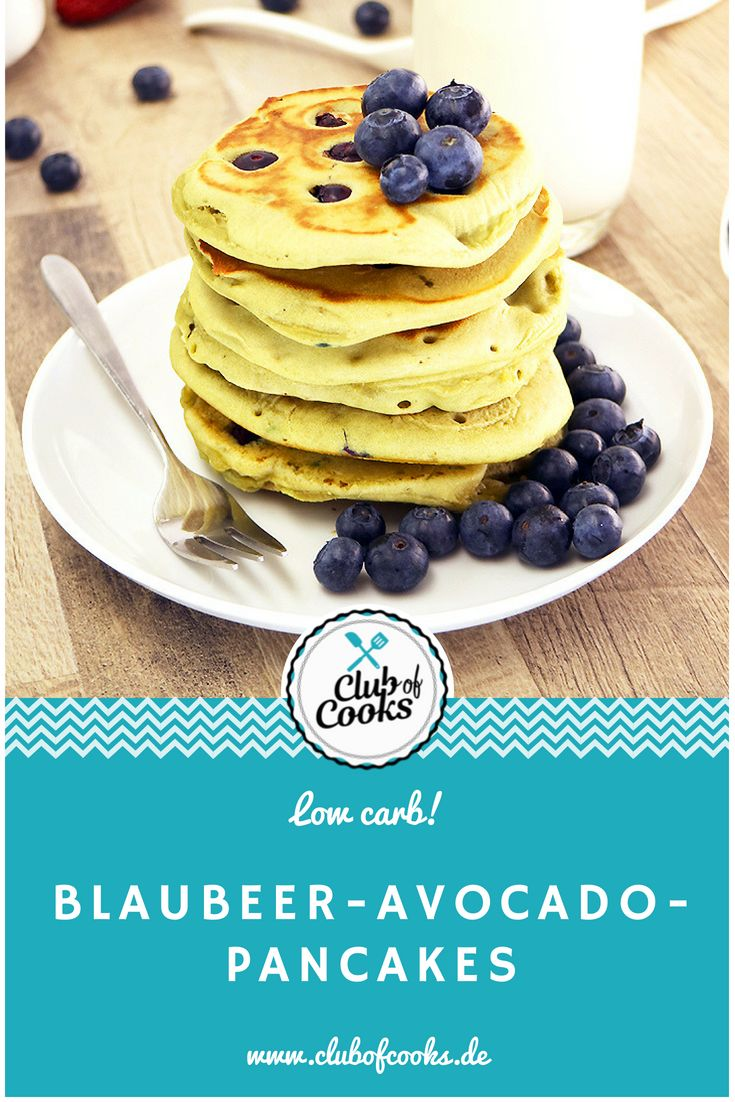 Blaubeer-Avocado-Pancake