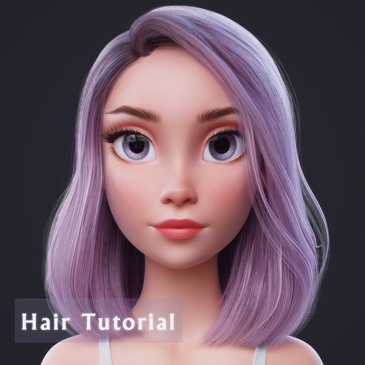 Blender Hair Tutorial, Nazar Noschenko on ArtStation at https://www.artstation.com/artwork/3nwBg