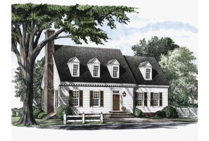 Eplans cape cod house plan colonial cottage 2485 for Cape cod cottage house plans