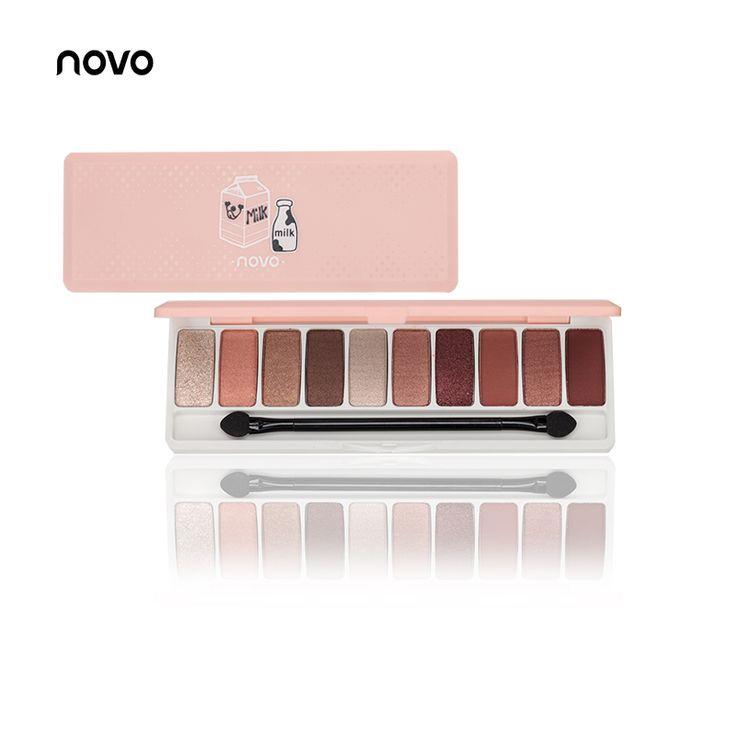 NOVO Fashion eye shadow 10 Colores Shimmer Mate sombra de ojos paleta de Sombra de Ojos desnuda Maquillaje Nude belleza Profesional Maquillaje en Sombra de ojos de Belleza y Salud en AliExpress.com | Alibaba Group