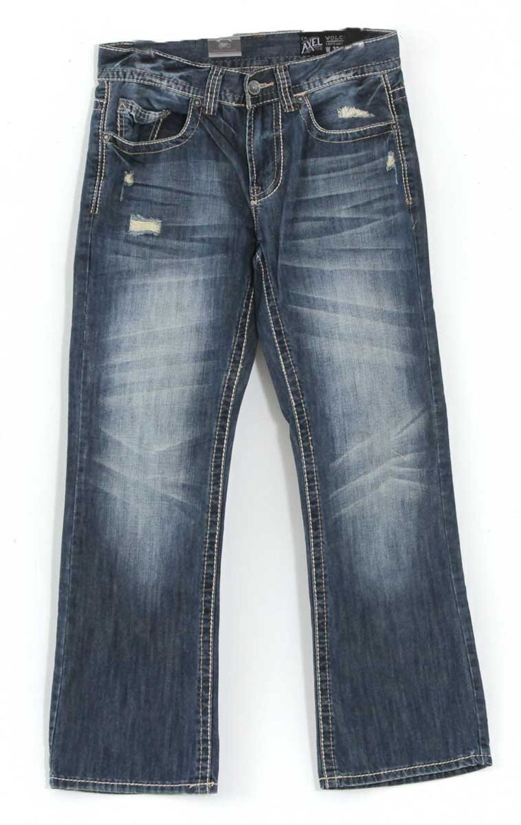 Axel Jeans Wolcott Vintage Bootcut Jeans for Men with Dark Wash AX41006-18