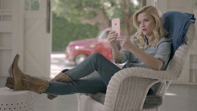 'Social media is hard y'all!' Reese Witherspoon promotes her clothing company Draper James. Reese let her southern charm come out as she played with her phone.