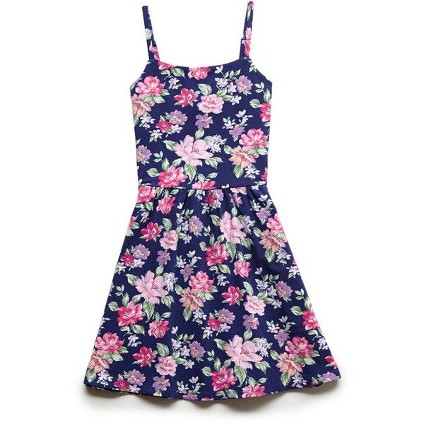 FOREVER 21 GIRLS Floral Sun Dress (Kids) (930 INR) ❤ liked on Polyvore featuring dresses and kids