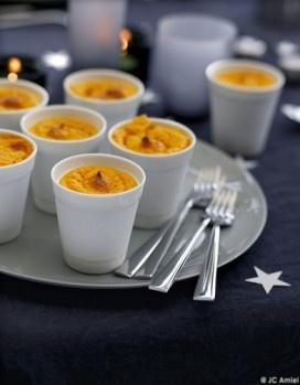 Mini-soufflés carotte et potimarron.