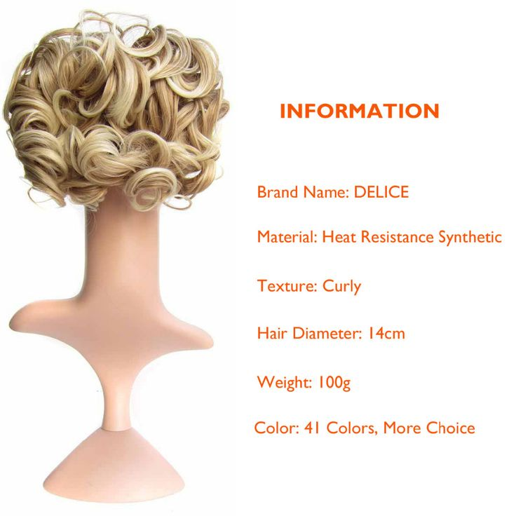 DELICE Short Curly Synthetic Blonde Burg Big Bun Chignon Hair Extension With Two Plastic Combs Clip. Click visit to buy #SyntheticExtensions
