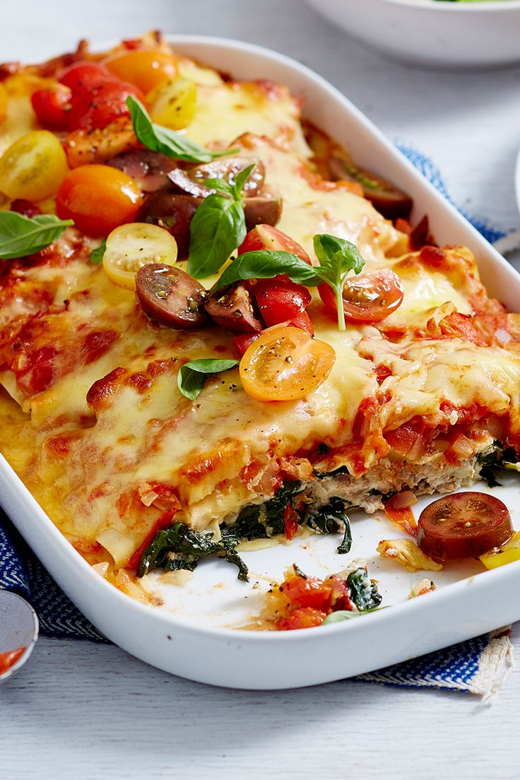 Skip the canned stuff and make the most of delicious, in-season tomatoes while they're at they're budget best! This lighter take on traditional Italian baked pasta dishes is sure to let them shine.