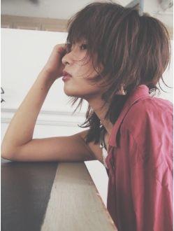【坂井健将】クラシカルマッシュウルフモードレイヤーボブ