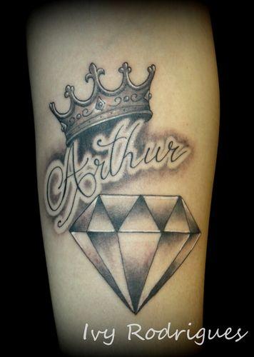 tattoo-diamante-preto-nome