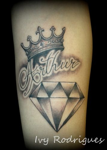 tattoo-diamante-preto-nome