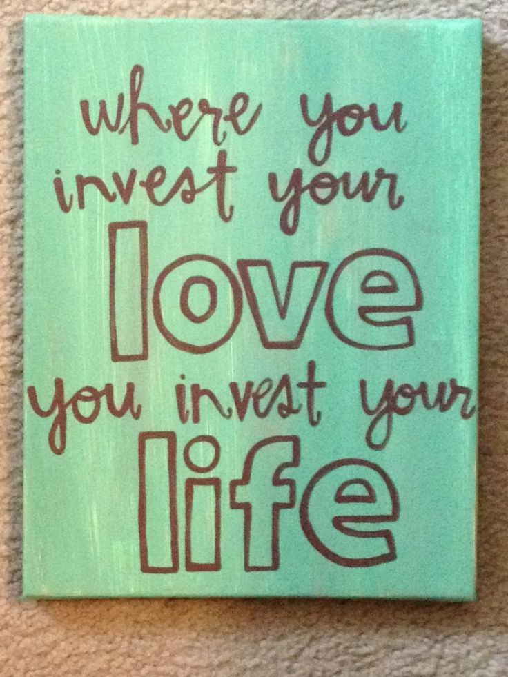 Where You Invest Your Love Quote Art Canvas.. $25.00, via Etsy.