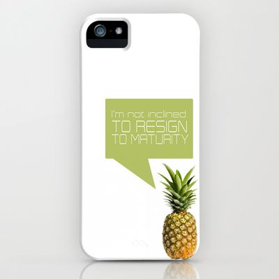psych tv show... im not inclined to resisgn to maturity iPhone & iPod Case by studiomarshallarts - $35.00