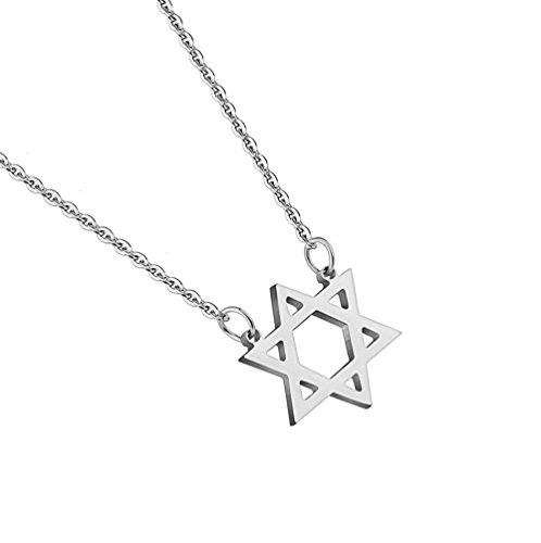 BodyJ4You® Pendant Chain Necklace Star of David Stainless Steel