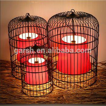 Traditional Iron Cage Lantern Pendant Light Chinese Lighting