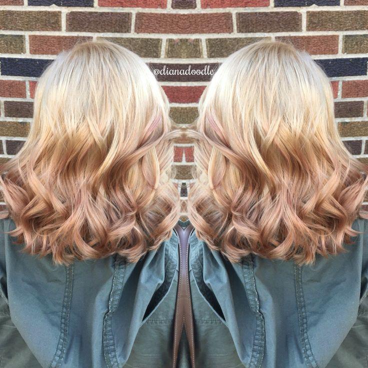 Reverse blonde ombré