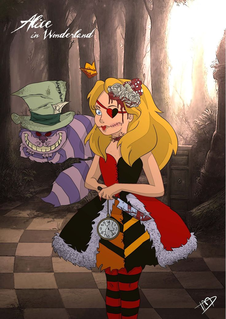 Twisted Disney - A dark side of beloved Disney Princesses - Alice