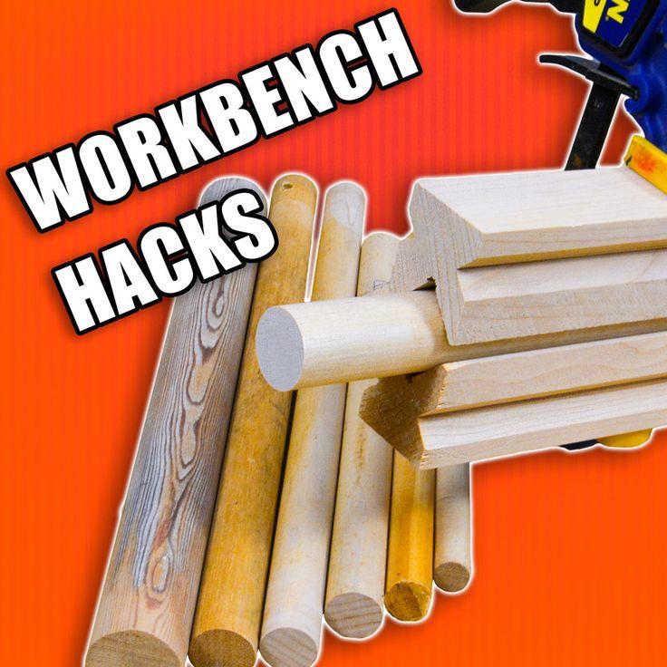 5 Quick Workbench Hacks Part 2 - Woodworking Tips and Tricks! #woodworking #diy #lifehack