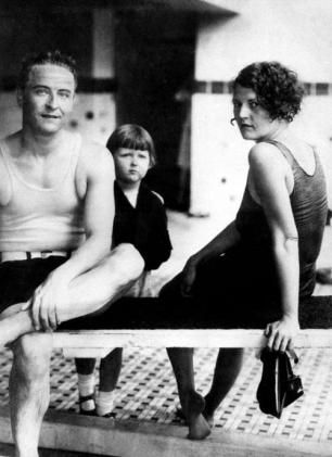 F. Scott, Zelda, and Scottie Fitzgerald at the Cavalier Hotel, Virginia Beach, 1927