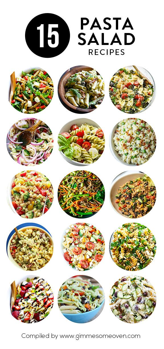 A delicious collection of pasta salad recipes from food bloggers.